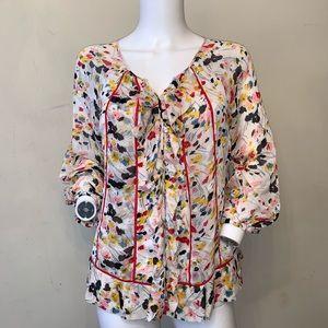 Diane von Furstenberg Marla Bis Silk Floral Blouse